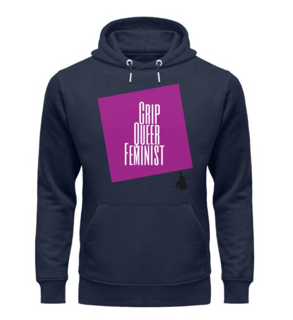 Crip Queer Feminist - Lila - Unisex Organic Hoodie-6887