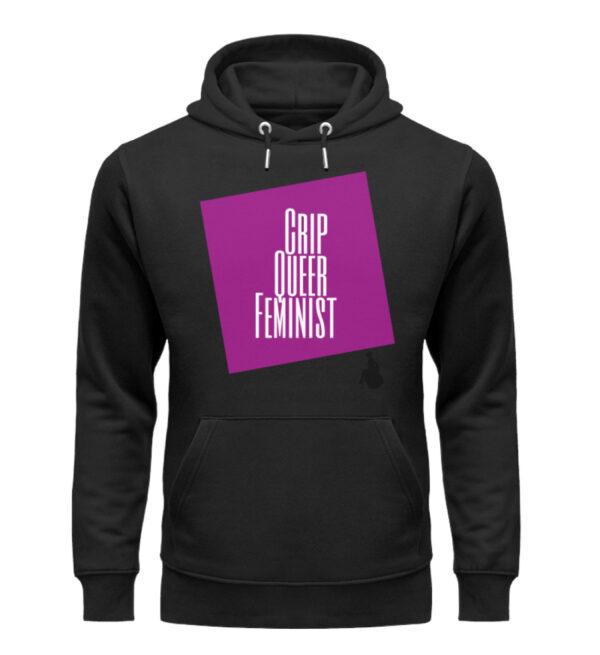Crip Queer Feminist - Lila - Unisex Organic Hoodie-16