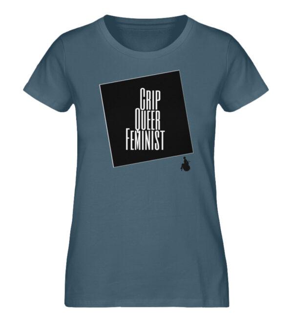 Crrip Queer Feminist Svart - Ladies Premium Organic Shirt-6895
