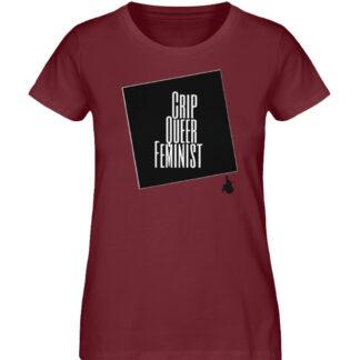 Crrip Queer Feminist Svart - Ladies Premium Organic Shirt-6883