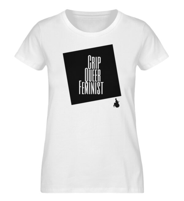 Crrip Queer Feminist Svart - Ladies Premium Organic Shirt-3