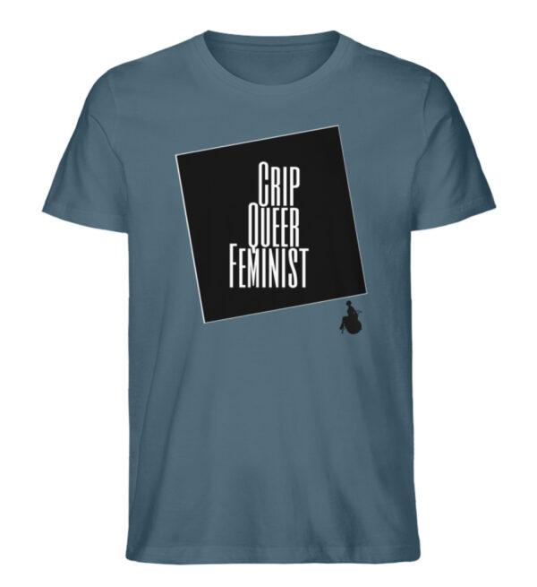 Crrip Queer Feminist Svart - Men Premium Organic Shirt-6895