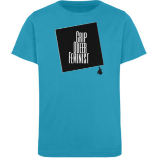 Crrip Queer Feminist Svart - Kinder Organic T-Shirt-6885