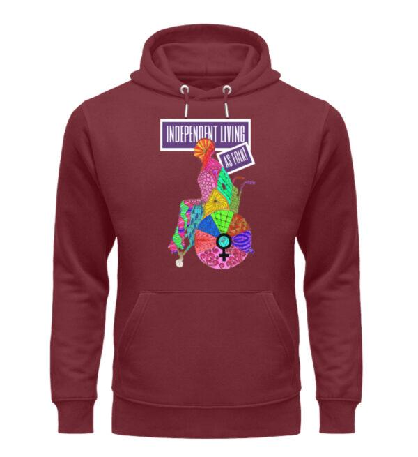 Independent Living hoodie - Unisex Organic Hoodie-6883