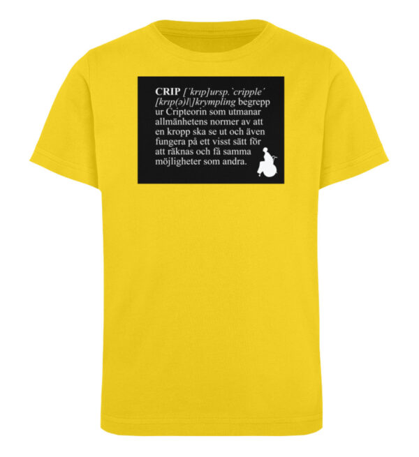 CRIP - The word - Kinder Organic T-Shirt-6905