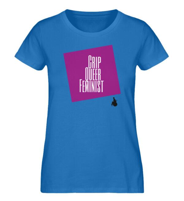 Crip Queer Feminist Lila - Ladies Premium Organic Shirt-6886