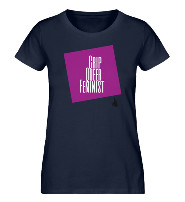 Crip Queer Feminist Lila - Ladies Premium Organic Shirt-6887