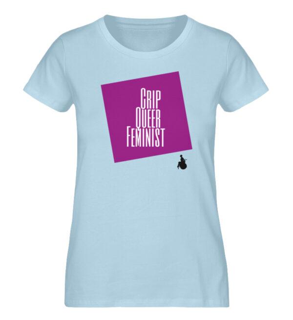 Crip Queer Feminist Lila - Ladies Premium Organic Shirt-6888