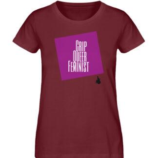 Crip Queer Feminist Lila - Ladies Premium Organic Shirt-6883