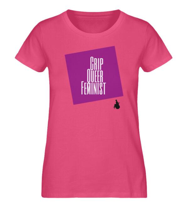 Crip Queer Feminist Lila - Ladies Premium Organic Shirt-6930
