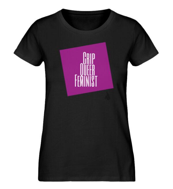 Crip Queer Feminist Lila - Ladies Premium Organic Shirt-16