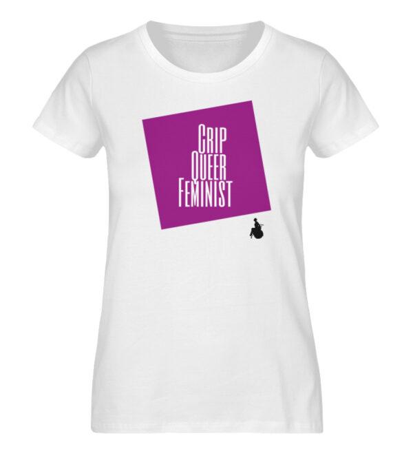 Crip Queer Feminist Lila - Ladies Premium Organic Shirt-3