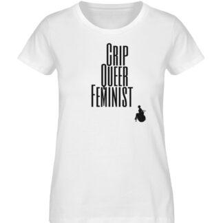 Crip Queer Feminist - Ladies Premium Organic Shirt-3