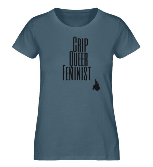 Crip Queer Feminist - Ladies Premium Organic Shirt-6895